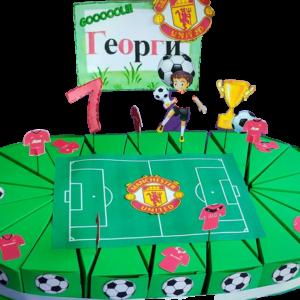 Картонена торта на тема футбол