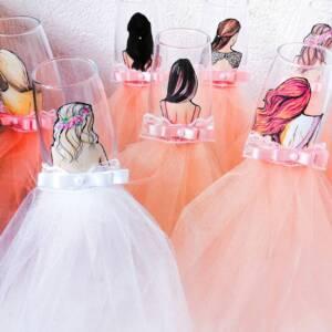 чаши за моминско парти праскова