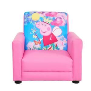 Детско фотьолче Пепа Пиг в розово, за момиченца които обичат Pepa и нейните приятели. Прекрасно допълнение към детската стая.