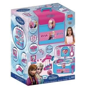 Кутии за красота 2 в 1 Frozen, лилав/многоцветен, комплект за момичета Frozen, комплект с детски гримове и други аксесоари.